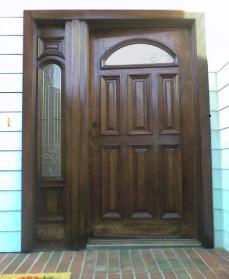 Before Door Refinishing & Like A New Door Again - Houston Front Door Refinishing u0026 Repair